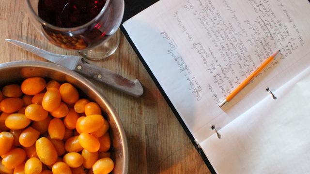 The Greek Kitchen Ecosystem - preparing Cualiflowre and Kumquats